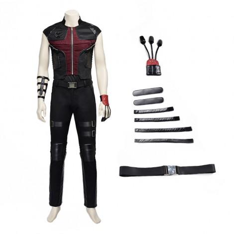 Marvel The Avengers Hawkeye Clint Barton Cosplay Costume