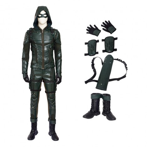 DC Green Arrow Season 5 Oliver Queen Cosplay Costume