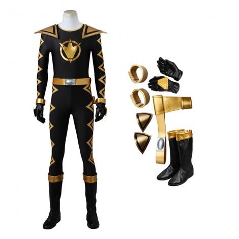 Power Rangers Dino Thunder Black Dino Ranger Tommy Oliver Cosplay Costumes
