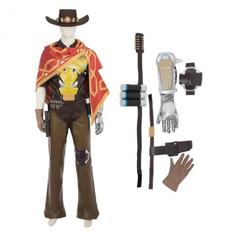 Top Level Overwatch Game Hero Jesse McCree Bounty Hunter Cosplay Costume