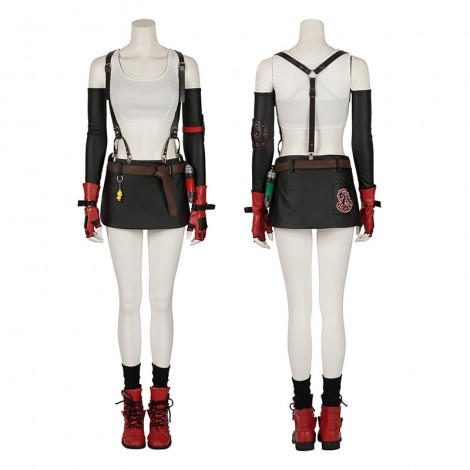 Tifa Costume Final Fantasy VII Remake Cosplay Costume