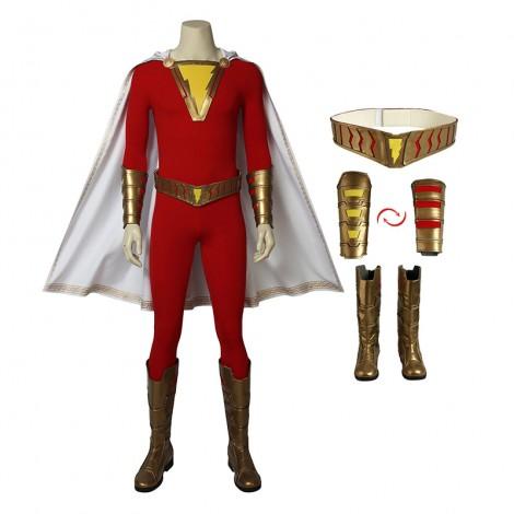 Shazam Costume Billy Batson Captain Marvel Cosplay Halloween Custom Made Suit