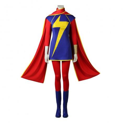 Captain Marvel Kamala Khan Cosplay Costumes