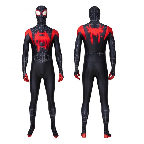 Miles Morales Costume Spider-Man Into The Spider-Verse Cosplay Costume