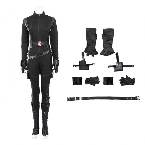 Marvel Captain America 2 Black Widow Natasha Romanoff Cosplay Costume