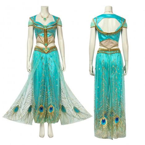 Jasmine Costumes Aladdin Live Edition Cosplay Costumes